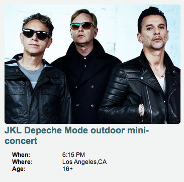 Depeche Mode estará con Jimmy Kimmel 2013